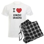 I heart komodo dragons Men's Light Pajamas