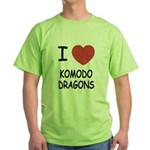 I heart komodo dragons Green T-Shirt