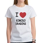 I heart komodo dragons Women's T-Shirt