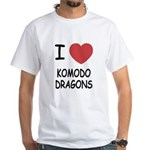 I heart komodo dragons White T-Shirt