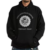 TAS White on Mens Black Hoodie