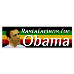 Rastafarians for Obama bumper sticker