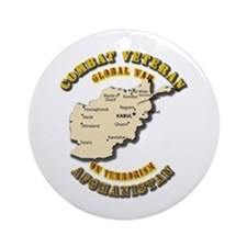 Combat Veteran - Global War Ornament (Round)