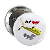 Reed My Lips Sax Rocks Button