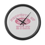 Property of Kylie Large Wall Clock