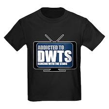 Addicted to DWTS Kids Dark T-Shirt