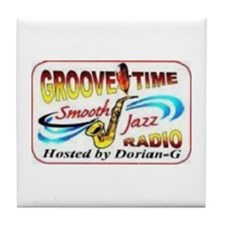 Groove-Time Smooth Jazz Tile Coaster