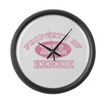 Property of Kenzie Large Wall Clock