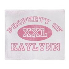 Property of Kaylynn Throw Blanket