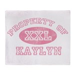 Property of Kaylyn Throw Blanket
