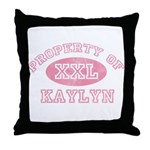 Property of Kaylyn Throw Pillow