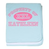 Property of Kathleen baby blanket
