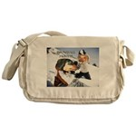 Snowball Fight Messenger Bag