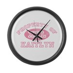 Property of Kaitlyn Large Wall Clock