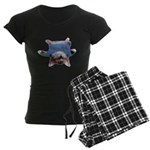 Yoga Kitty Cat Women's Dark Pajamas