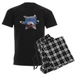Yoga Kitty Cat Men's Dark Pajamas