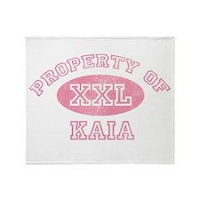 Property of Kaia Throw Blanket