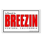 Breezin Surfboards Rectangle Sticker