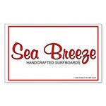 Sea Breeze Surfboards Rectangle Sticker