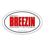 Breezin Surfboards Oval Sticker