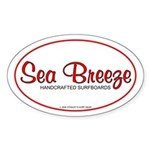 Sea Breeze SurfboardsOval Sticker