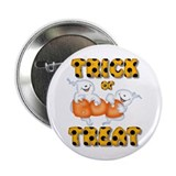 "Trick Or Treat Halloween Ghost 2.25"" Button"