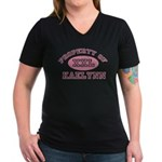 Property of Kaelynn Women's V-Neck Dark T-Shirt