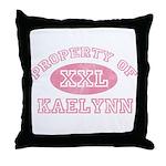 Property of Kaelynn Throw Pillow