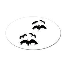 Spooky Flying Bats 22x14 Oval Wall Peel