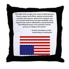 4th Amendment & Upside Down Flag Throw Pillow