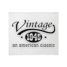 Vintage 1945 Throw Blanket