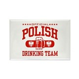 Polish Drinking Team Rectangle Magnet