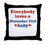 November 23rd Throw Pillow