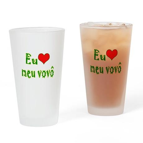 I Love Grandpa (Port/Brasil) Drinking Glass