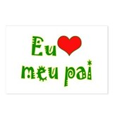 I Love Dad (Port/Brasil) Postcards (Package of 8)