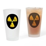 Distressed Radiation Symbol Drinking Glass