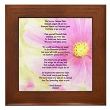 Brain Surgery Support Poem Framed Tile