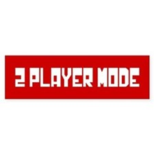 2 PLAYER MODE Bumper Sticker