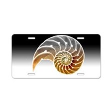 Nautilus Shadow Aluminum License Plate