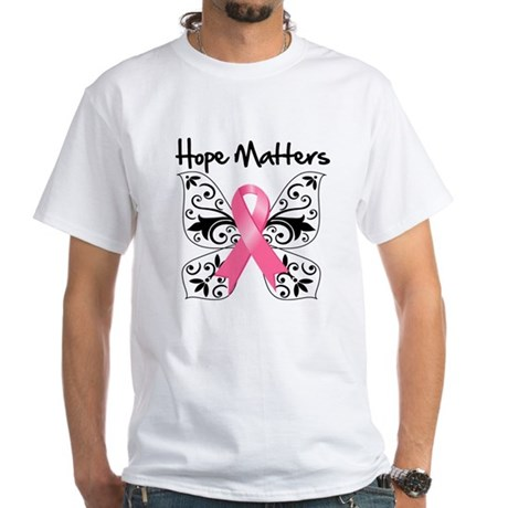 Hope Matters Breast Cancer White T-Shirt