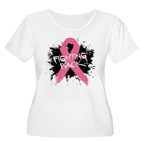 Fighting Back Breast Cancer Women's Plus Size Scoo