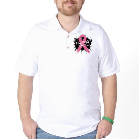 Fighting Back Breast Cancer Golf Shirt