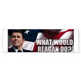 'What Would Reagan Do?' Bumper Car Sticker