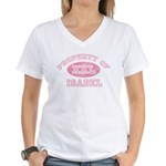 Property of Isabel Women's V-Neck T-Shirt