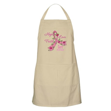 Hope Faith Breast Cancer Apron