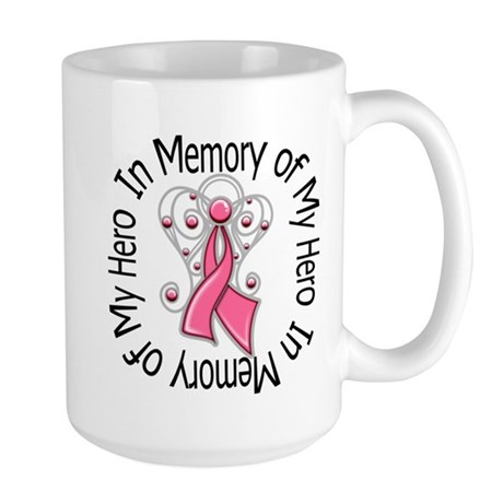 In Memory Breast Cancer Large Mug