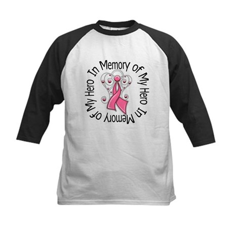In Memory Breast Cancer Kids Baseball Jersey