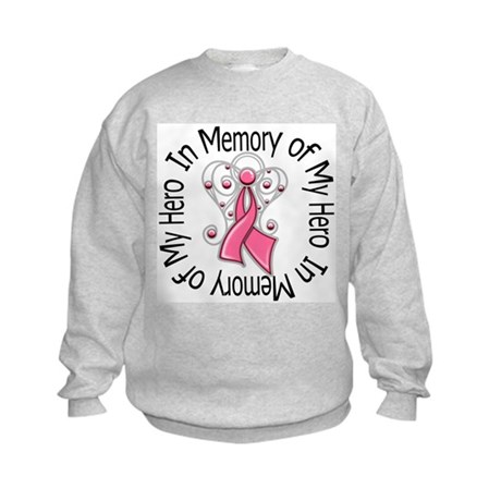 In Memory Breast Cancer Kids Sweatshirt