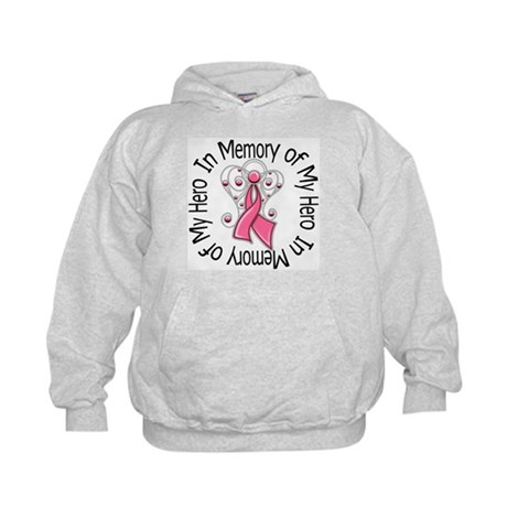 In Memory Breast Cancer Kids Hoodie