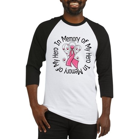 In Memory Breast Cancer Baseball Jersey